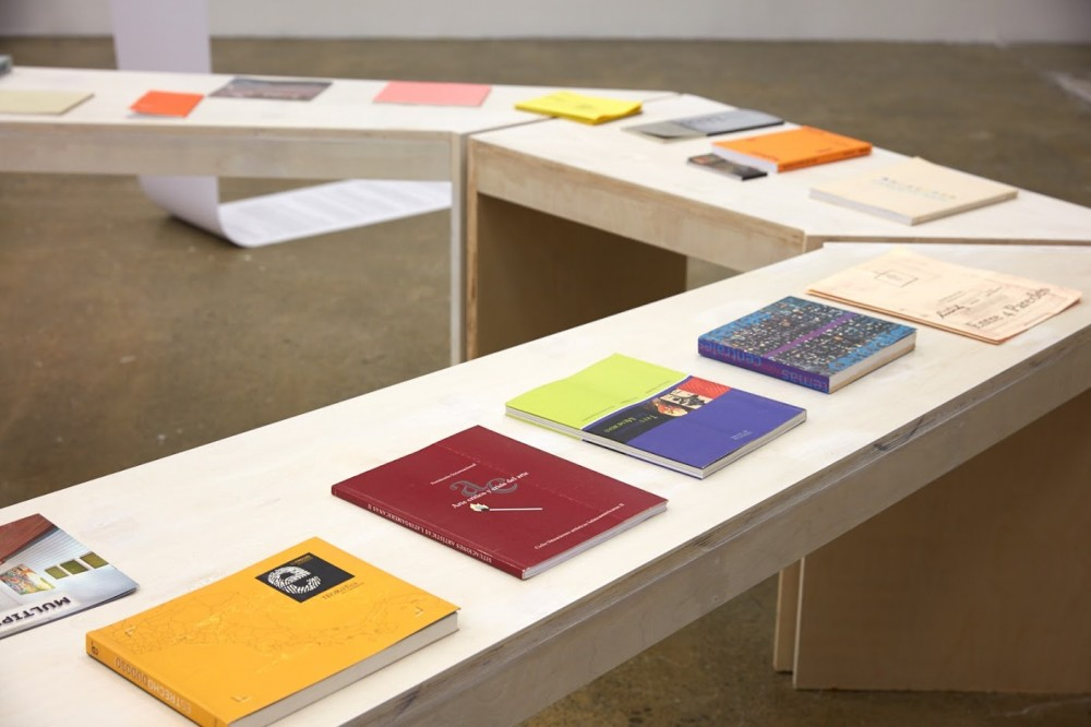 *Most Things Happen When I Am Asleep*, 2018  21.  *Reading Table*, designed by Federico Chaves with publications from TEOR/éTica, 2018.  Image: Sam Hartnett 2018