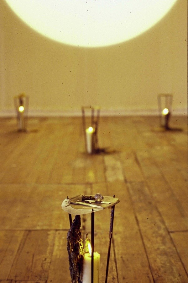From the archive:  Julia Morison, *Love Philtres*, detail of installation view at Artspace Aotearoa in *Mediatrix: New work by seven women artists* (group), 17 August — 17 September 1993