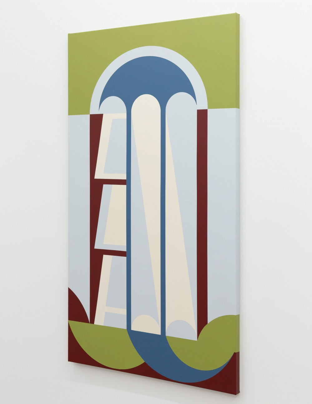 The work Ella Sutherland has generously contributed to *When The Dust Settles*:   Ella Sutherland *Place Holder (Class)* 2020 acrylic on linen 1525 x 865 mm Courtesy of the artist and Sumer, Tauranga